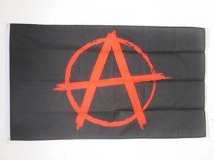 DRAPEAU ANARCHIE NOIR ET ROUGE 90x60cm - DRAPEAU ANARCHIQUE 60 x 90 cm - DRAPEAUX - AZ FLAG de la marque AZ FLAG image 0 produit