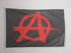 DRAPEAU ANARCHIE NOIR ET ROUGE 90x60cm - DRAPEAU ANARCHIQUE 60 x 90 cm Spécial Extérieur - DRAPEAUX - AZ FLAG de la marque AZ FLAG image 0 produit