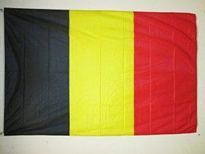 DRAPEAU BELGIQUE 150x90cm - DRAPEAU BELGE 90 x 150 cm Spécial Extérieur - DRAPEAUX - AZ FLAG de la marque AZ FLAG image 0 produit