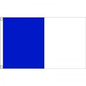 DRAPEAU BLEU ET BLANC 150x90cm - DRAPEAU DEUX COULEURS 90 x 150 cm - DRAPEAUX - AZ FLAG de la marque AZ FLAG image 0 produit