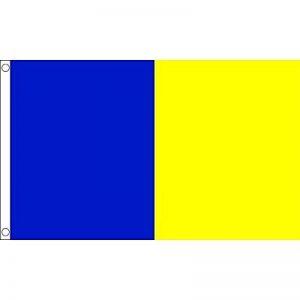 DRAPEAU BLEU ET JAUNE 150x90cm - DRAPEAU DEUX COULEURS 90 x 150 cm - DRAPEAUX - AZ FLAG de la marque AZ FLAG image 0 produit