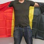 DRAPEAU CAPE BELGIQUE 150x90cm - BODY FLAG SUPPORTER BELGE 90 x 150 cm - AZ FLAG de la marque AZ FLAG image 1 produit