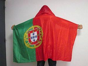 DRAPEAU CAPE PORTUGAL 150x90cm - BODY FLAG SUPPORTER PORTUGAIS 90 x 150 cm - AZ FLAG de la marque AZ FLAG image 0 produit