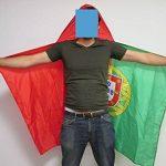 DRAPEAU CAPE PORTUGAL 150x90cm - BODY FLAG SUPPORTER PORTUGAIS 90 x 150 cm - AZ FLAG de la marque AZ FLAG image 1 produit