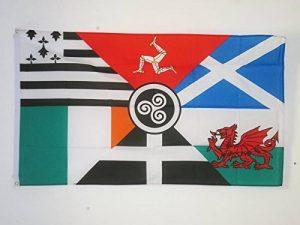 DRAPEAU CELTIQUE MULTI 150x90cm - DRAPEAU CELTE - PAYS CELTES 90 x 150 cm - DRAPEAUX - AZ FLAG de la marque AZ FLAG image 0 produit