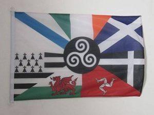 DRAPEAU CELTIQUE MULTI 90x60cm - DRAPEAU CELTE - PAYS CELTES 60 x 90 cm Spécial Extérieur - DRAPEAUX - AZ FLAG de la marque AZ FLAG image 0 produit