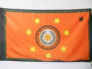 DRAPEAU CHEROKEES 150x90cm - DRAPEAU DES CHÉROKÎS - INDIEN D'AMÉRIQUE 90 x 150 cm Fourreau pour hampe - AZ FLAG de la marque AZ FLAG image 0 produit