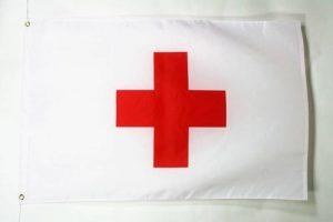 DRAPEAU CROIX ROUGE 90x60cm - DRAPEAU HUMANITAIRE 60 x 90 cm - DRAPEAUX - AZ FLAG de la marque AZ FLAG image 0 produit