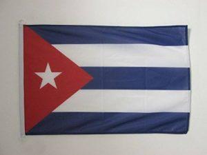 DRAPEAU CUBA 90x60cm - DRAPEAU CUBAIN 60 x 90 cm Spécial Extérieur - DRAPEAUX - AZ FLAG de la marque AZ FLAG image 0 produit