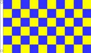 DRAPEAU DAMIER BLEU ET JAUNE 90x60cm - DRAPEAU À DAMIERS 60 x 90 cm - DRAPEAUX - AZ FLAG de la marque AZ FLAG image 0 produit
