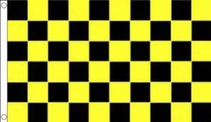 DRAPEAU DAMIER NOIR ET JAUNE 150x90cm - DRAPEAU À DAMIERS 90 x 150 cm - DRAPEAUX - AZ FLAG de la marque AZ FLAG image 0 produit