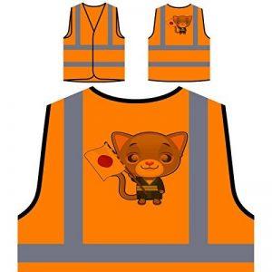 Drapeau De Chats Japonais Veste de protection orange personnalisée à haute visibilité p391vo de la marque INNOGLEN image 0 produit
