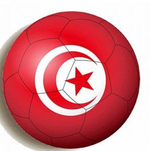Drapeau de la Tunisie sur Football Round Hand Held Miroir imprimé conçu pour 58mm grande Maquillage Miroir compact de la marque KABOOM GIFTS image 0 produit