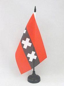DRAPEAU DE TABLE AMSTERDAM 21x14cm - PETIT DRAPEAUX DE BUREAU HOLLANDAIS - PAYS-BAS 14 x 21 cm - AZ FLAG de la marque AZ FLAG image 0 produit