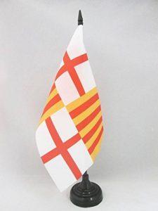 DRAPEAU DE TABLE BARCELONE 21x14cm - PETIT DRAPEAUX DE BUREAU VILLE DE BARCELONA 14 x 21 cm - AZ FLAG de la marque AZ FLAG image 0 produit