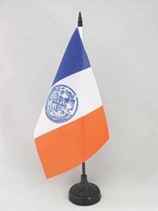 DRAPEAU DE TABLE NEW YORK CITY 21x14cm - PETIT DRAPEAUX DE BUREAU AMÉRAIN - USA 14 x 21 cm - AZ FLAG de la marque AZ FLAG image 0 produit
