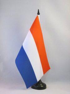 DRAPEAU DE TABLE PAYS-BAS 21x14cm - PETIT DRAPEAUX DE BUREAU HOLLANDAIS 14 x 21 cm - AZ FLAG de la marque AZ FLAG image 0 produit