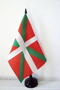 DRAPEAU DE TABLE PAYS BASQUE 21x14cm - PETIT DRAPEAUX DE BUREAU BASQUE 14 x 21 cm - AZ FLAG de la marque AZ FLAG image 0 produit