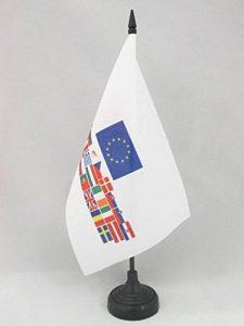 DRAPEAU DE TABLE UNION EUROPÉENNE 28 PAYS 21x14cm - PETIT DRAPEAUX DE BUREAU PAYS D'EUROPE - UE 14 x 21 cm - AZ FLAG de la marque AZ FLAG image 0 produit