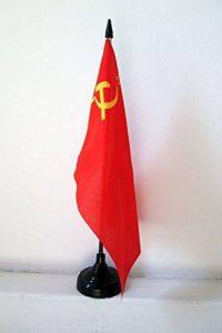 DRAPEAU DE TABLE URSS 21x14cm - PETIT DRAPEAUX DE BUREAU COMMUNISTE - RUSSIE 14 x 21 cm - AZ FLAG de la marque AZ FLAG image 0 produit