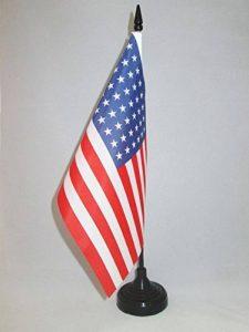 DRAPEAU DE TABLE USA 48 ÉTOILES 21x14cm - PETIT DRAPEAUX DE BUREAU AMÉRICAIN - ETATS-UNIS 14 x 21 cm - AZ FLAG de la marque AZ FLAG image 0 produit