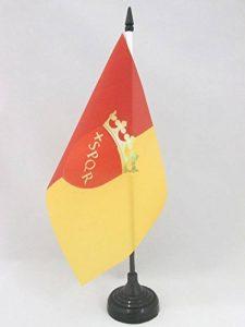 DRAPEAU DE TABLE VILLE DE ROME AVEC ARMES 21x14cm - PETIT DRAPEAUX DE BUREAU ROMA - ITALIE 14 x 21 cm - AZ FLAG de la marque AZ FLAG image 0 produit