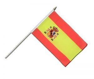 Drapeau Espagne sur hampe, drapeau espagnol, 30 x 45 cm, MaxFlags® de la marque MaxFlags image 0 produit