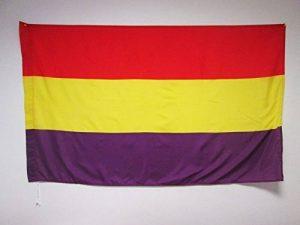 DRAPEAU ESPAGNOL RÉPUBLICAIN 150x90cm - DRAPEAU ESPAGNE RÉPUBLICAINE 90 x 150 cm Fourreau pour hampe - AZ FLAG de la marque AZ FLAG image 0 produit