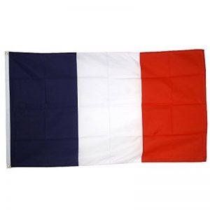 Drapeau France 150x90cm - Drapeau français 90 x 150 cm - supporter Football Coupe du Monde Foot 2018 de la marque Supportershop image 0 produit