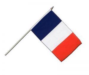 Drapeau France sur hampe, drapeau français, 30 x 45 cm, MaxFlags® de la marque MaxFlags image 0 produit