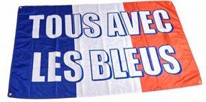 Drapeau France tous avec les bleus 90×150 cm. 4 oeillets de fixation. Coupe du monde 2018 de la marque Drapeau des Bleus image 0 produit