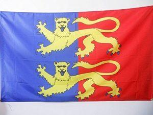 DRAPEAU MANCHE 150x90cm - DRAPEAU DÉPARTEMENT FRANÇAIS - NORMANDIE 90 x 150 cm Fourreau pour hampe - AZ FLAG de la marque AZ FLAG image 0 produit
