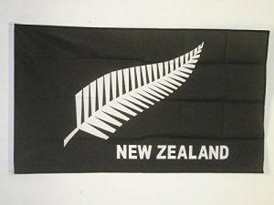DRAPEAU NOUVELLE-ZÉLANDE ALL BLACK 90x60cm - DRAPEAU NÉO-ZÉLANDAIS - RUGBY 60 x 90 cm - DRAPEAUX - AZ FLAG de la marque AZ FLAG image 0 produit