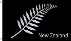 DRAPEAU NOUVELLE-ZÉLANDE FOUGÈRES 250x150cm - GRAND DRAPEAU NEO-ZÉLANDAIS - ALL BLACK 150 x 250 cm - AZ FLAG de la marque AZ FLAG image 0 produit