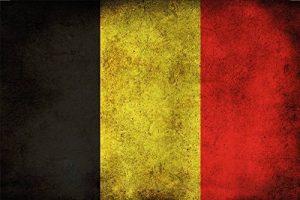 Drapeau Pays–Belgique–Drapeau Belgium barschild, dekoschild, Retro de la marque Schatzmix image 0 produit