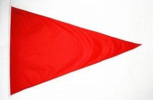 DRAPEAU PLAGE ROUGE TRIANGLE 150x90cm - DRAPEAU FLAMME DE BAIGNADE ROUGE 90 x 150 cm Spécial Extérieur - DRAPEAUX - AZ FLAG de la marque AZ FLAG image 0 produit