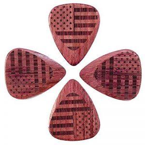 """Drapeau Tones fla-sas-puh-4""""étoiles et rayures Violet Cœur de guitare (Lot de 4) de la marque Flag Tones image 0 produit"""