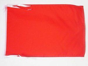 DRAPEAU UNICOLORE ROUGE 45x30cm - PAVILLON DE COULEUR ROUGE 30 x 45 cm haute qualité - AZ FLAG de la marque AZ FLAG image 0 produit
