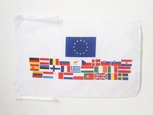 DRAPEAU UNION EUROPÉENNE 28 PAYS 45x30cm - PAVILLON PAYS D'EUROPE - UE 30 x 45 cm haute qualité - AZ FLAG de la marque AZ FLAG image 0 produit