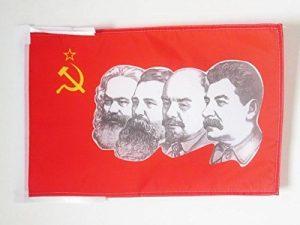 DRAPEAU URSS 4 PERSONNAGES 45x30cm - PAVILLON COMMUNISTE - RUSSIE 30 x 45 cm haute qualité - AZ FLAG de la marque AZ FLAG image 0 produit