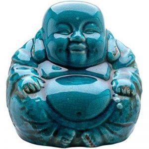 Effet Craquelé Turquoise-Bouddha Chinois Rieur Assis - 19 Cm de la marque Love Your Gifts image 0 produit
