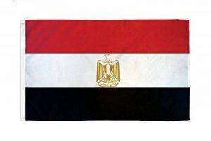 Égypte drapeau 5 ft x 3 ft grand - 100% Polyester-oeillets métal-cousus Double de la marque Perfectflags image 0 produit