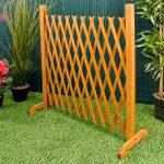 """Élargir écran de jardin Clôture Trellis style étend à 6'4 """"autoportante bois de la marque Great Ideas By Post image 4 produit"""