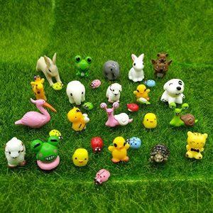 Emien 31pièces Mini animaux miniature Ornement Ensemble, Miniature Ornement kit pour DIY Décoration Dollhouse Fée de Décor de jardin de la marque EMiEN image 0 produit