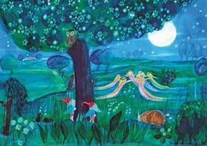 Enfant Homme de Ott Poster Elfe Nuit de E.M. Heid dans DIN A3en papier recyclé du schnurverlag de la marque schnurposter image 0 produit