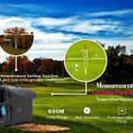 ERAY 600M Télémètre Golf, Télémètre Laser pour Golf - Zoom Optique 6x, Mesure Multimode (Mesure de Distance en continu + Mode de Brouillard + Mode de Verrouillage Cible + Mesure de Vitesse), Noir de la marque ERAY image 3 produit