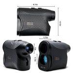 ERAY 600M Télémètre Golf, Télémètre Laser pour Golf - Zoom Optique 6x, Mesure Multimode (Mesure de Distance en continu + Mode de Brouillard + Mode de Verrouillage Cible + Mesure de Vitesse), Noir de la marque ERAY image 1 produit
