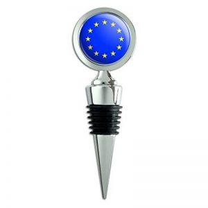 EU Union Européenne Europe National Pays Drapeau Bouchon de bouteille de vin de la marque Graphics and More image 0 produit
