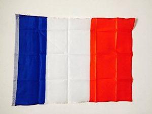 EURO 2016 : Drapeau Français de supporter 60 x 90 cm avec couture double pour hampe de la marque Equilibre et Aventure image 0 produit