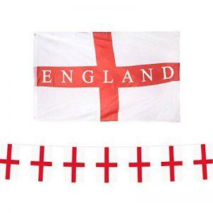 Euro 2016Party Pack: Angleterre St Georges/FT. Drapeau + fanions de la marque Robelli image 0 produit